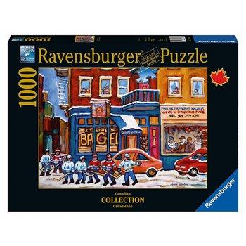 Ravensburger Puzzle 1000pc Canadian Bagel & Hockey