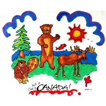 Artburn Artburn Pillowcase This is Canada! Moose, Beaver, Bear