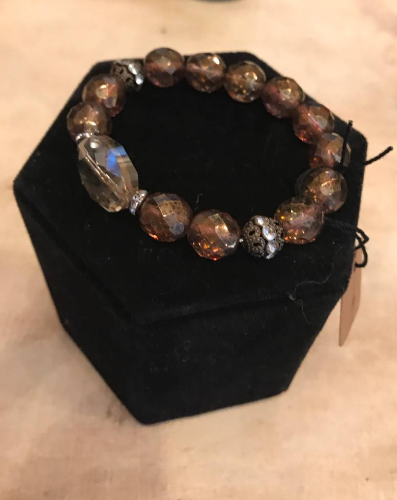 InspireDesigns crystal copper luster bracelet