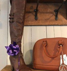 Mia Farley Brwn Tall Heel Boots