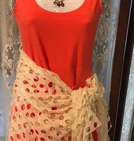 Nostalgia skater dress coral