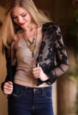 Angie long slv lace shrug