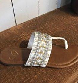 Beaded t strap sandal