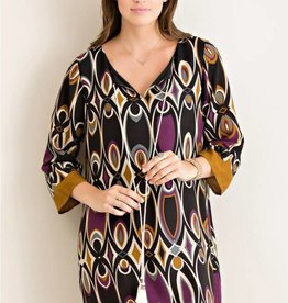 Entro Deco print shift dress
