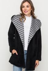Mystree striped lined hoodie