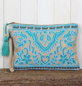 love stitch beaded clutch