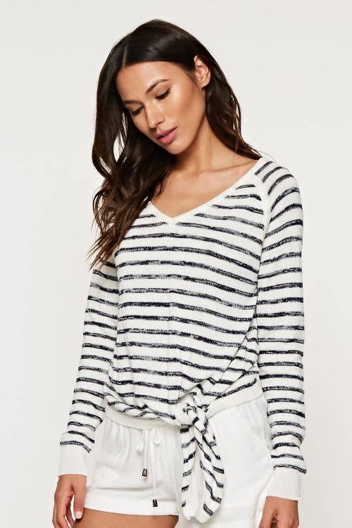 love stitch long sleeve stripe