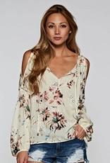 love stitch long slve floral top