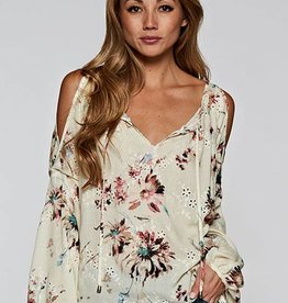 love stitch long slve floral top