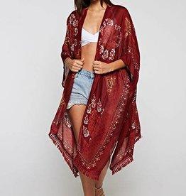 Umgee Vintage Red Kimono