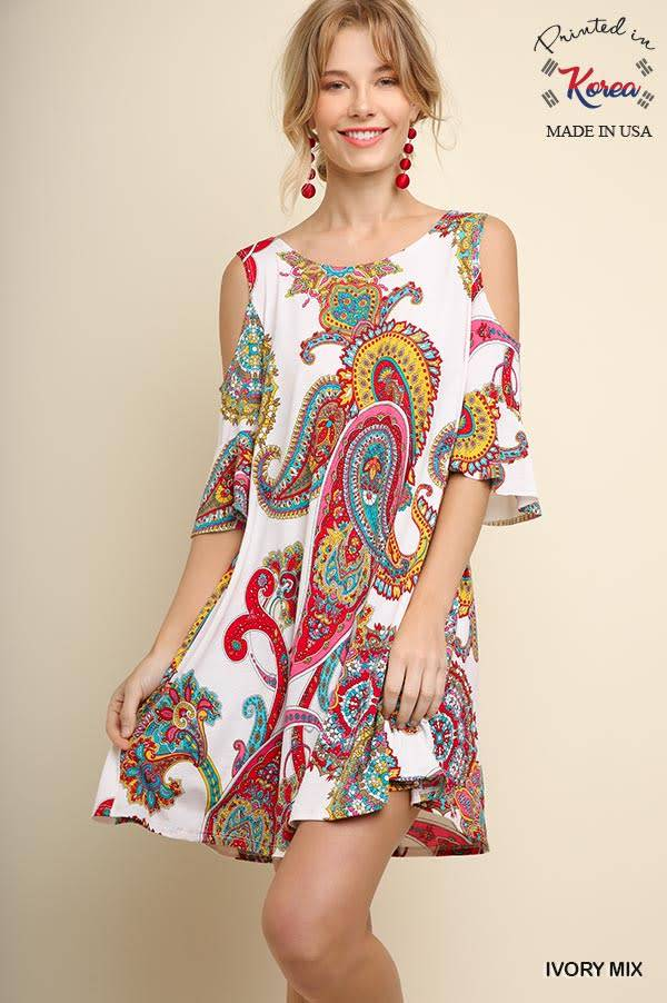 Umgee medallion print dress