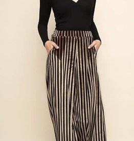 Umgee Hi waist striped wide leg