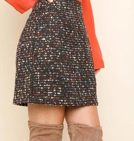 Hi waist boucle skirt