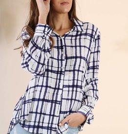 Umgee Deco Plaid Shirt