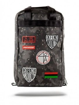 SPRAYGROUND SPIKE BLACK CAMO PATCHES