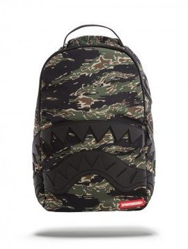 SPRAYGROUND GREEN TIGER CAMO BLACK SHARK