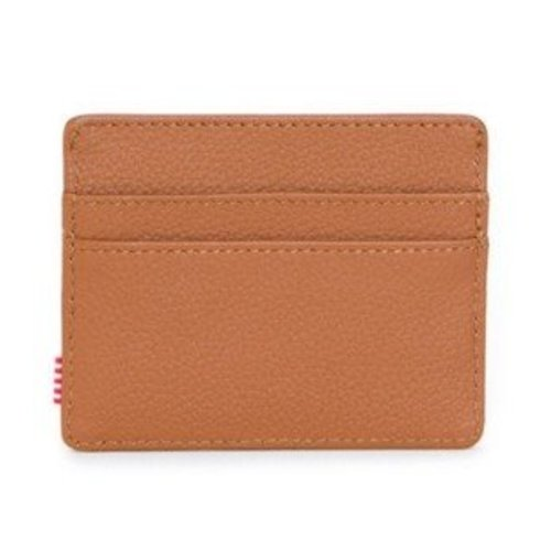 HERSCHEL SUPPLY CO CHARLIE LEATHER TAN PEBBLED