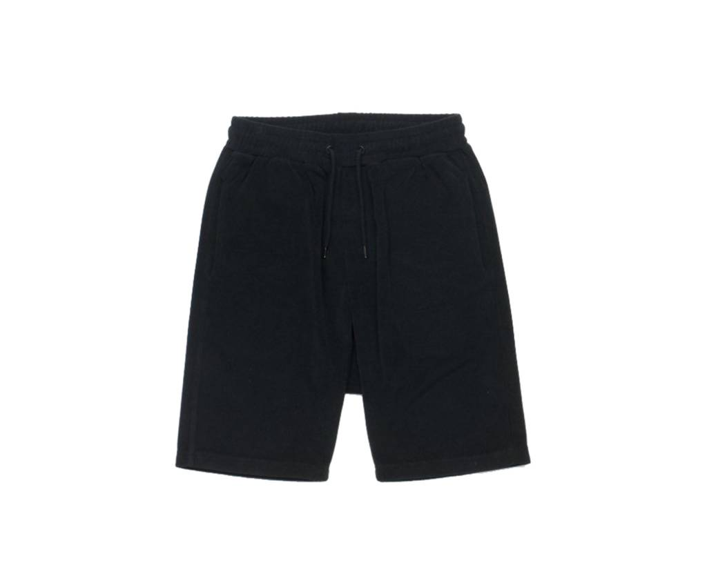 10 DEEP SETUP TERRY BLK SHORTS
