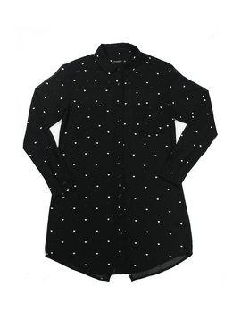 DIAMOND SUPPLY CO LUSTROUS BUTTON UP DRESS BLK