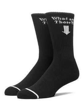 HUF WHAT ARE THOSE CREW SOCK BLK