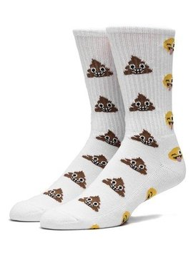 HUF SHIT HEAD CREW SOCK WHITE