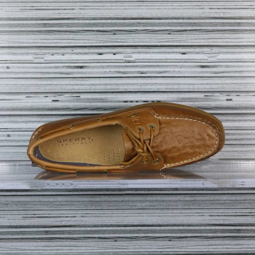 SPERRY A/O 2-EYE EMBOSSED TAN STS94095