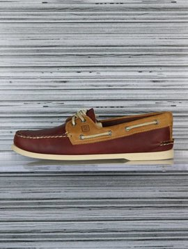 SPERRY A/O 2-EYE BURGUNDY/TAN STS10053