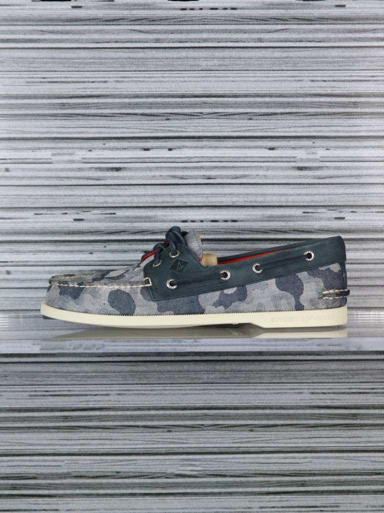 SPERRY A/O 2-EYE CHAMB BLUE CAMO STS12573
