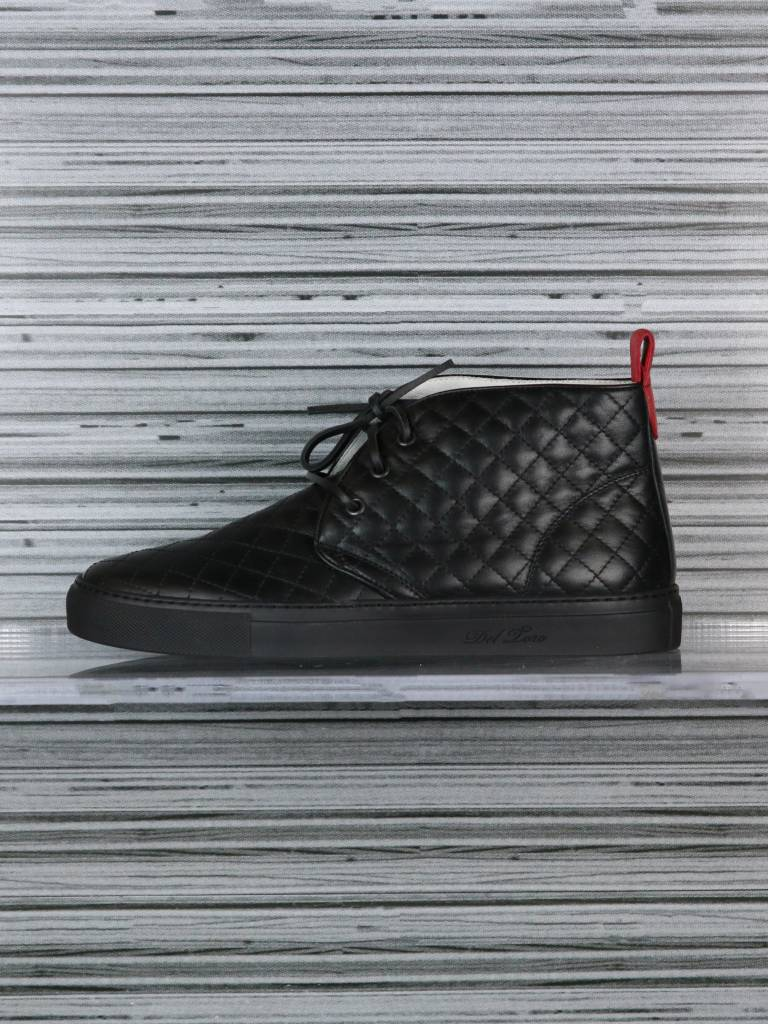 DEL TORO NAPPA QUILTED CHUKKA BLK