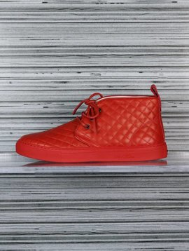 DEL TORO NAPPA QUILTED CHUKKA RED
