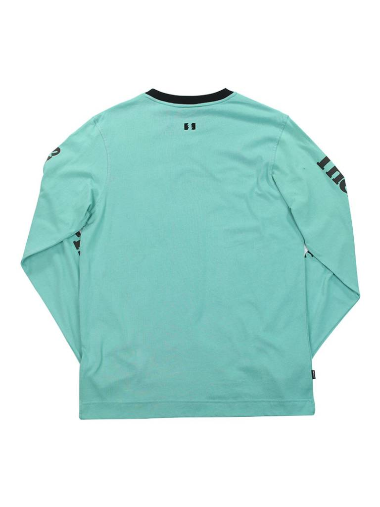 THE HUNDREDS RUDE LS TEE PALE TURQ