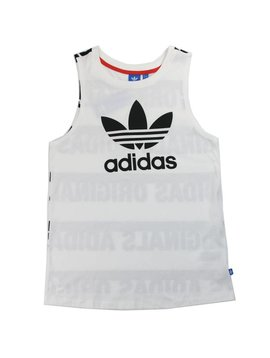 ADIDAS LOOSE TANK WHTE/BLK