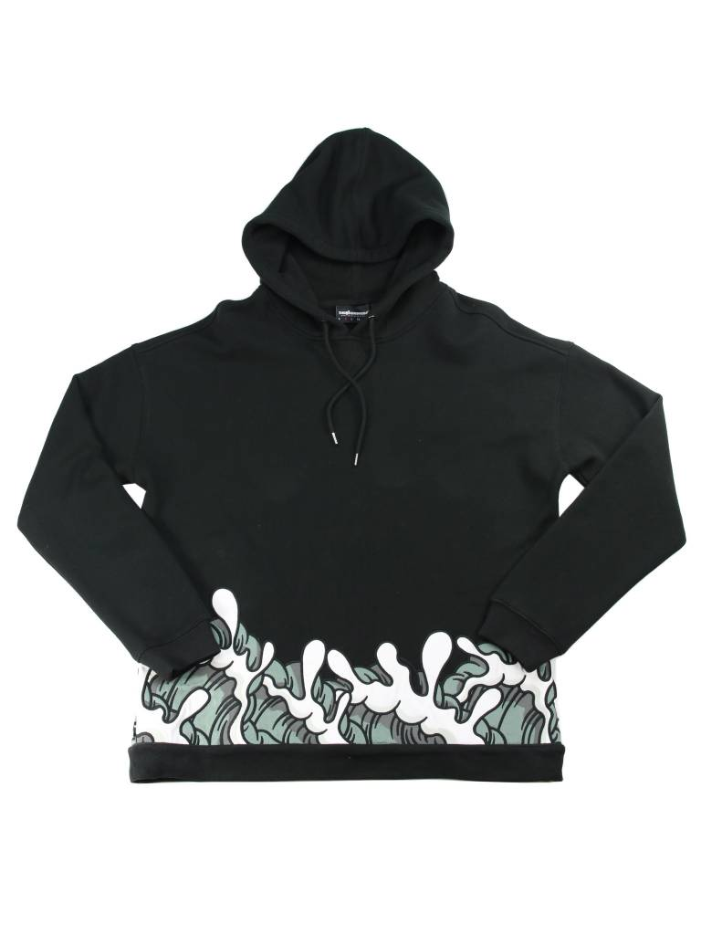 THE HUNDREDS WAVES BLK PULLOVER