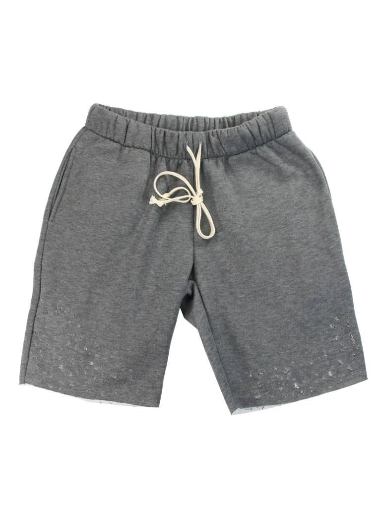 EPTM. DISTRESSED FLEECE SHORTS GREY