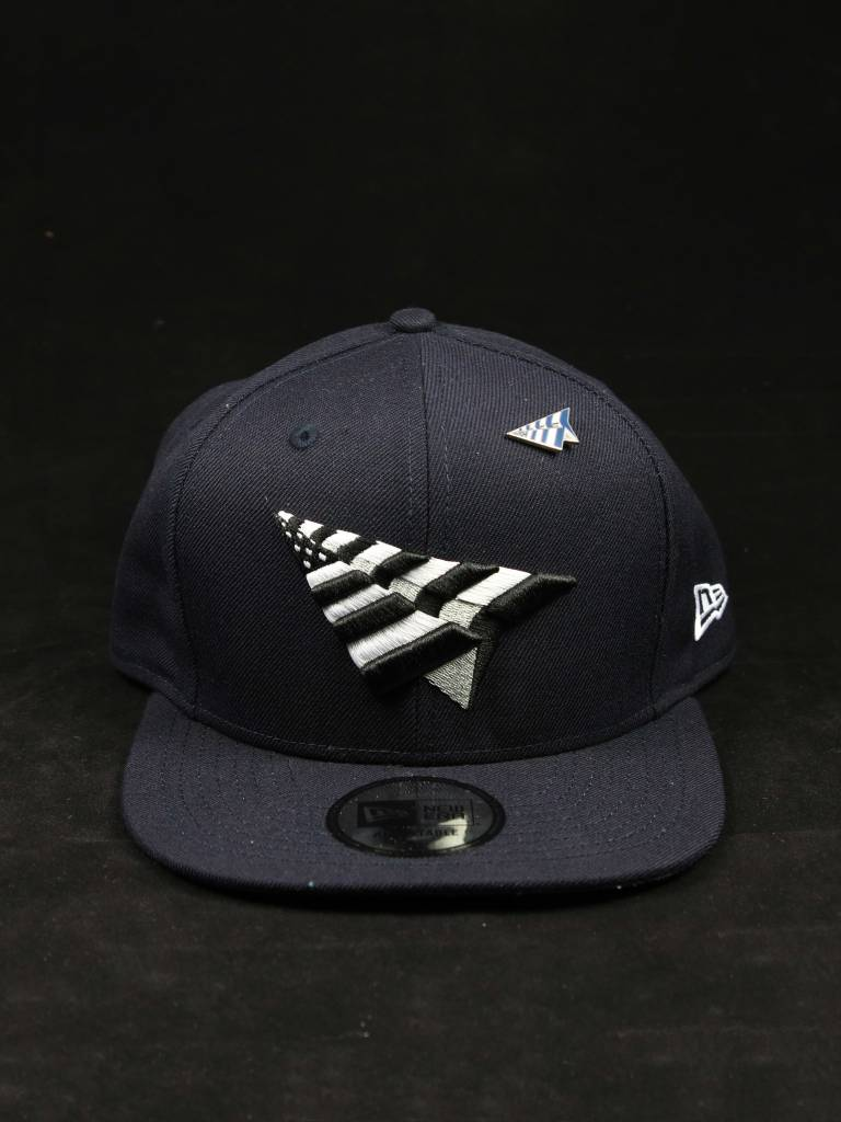 ROC NATION PAPER PLANE OLD SCHOOL CROWN SNAPBACK NVY