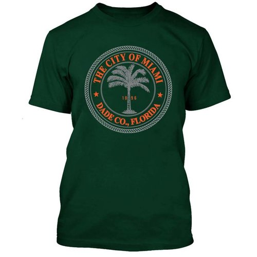 CITY SEAL TEE GRN/ORG