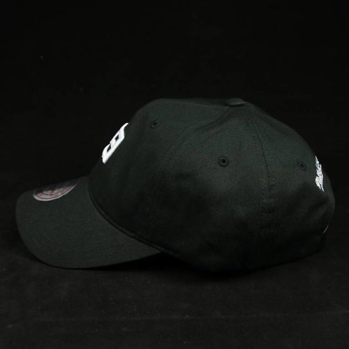 MITCHELL & NESS TE STAMP BLK/WHITE DAD HAT