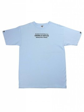 CROOKS & CASTLES SLAY TEE SKY BLUE