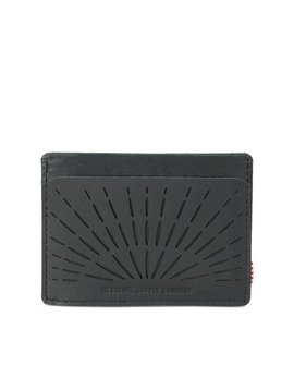 HERSCHEL SUPPLY CO CHARLIE PERF LTHR BLK/BLK