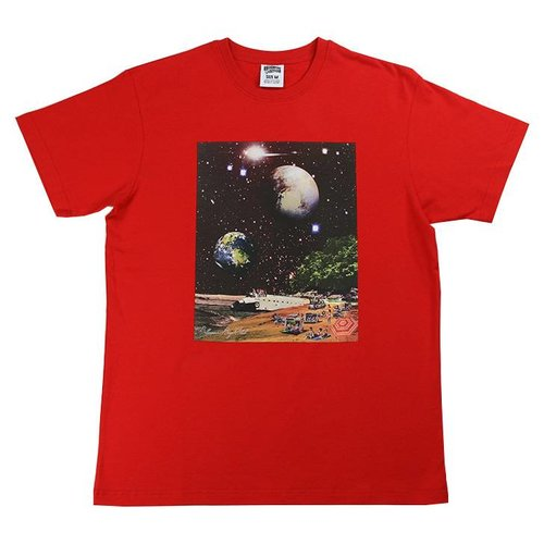BILLIONAIRE BOYS CLUB BB SPACE BEACH SS TEE RED