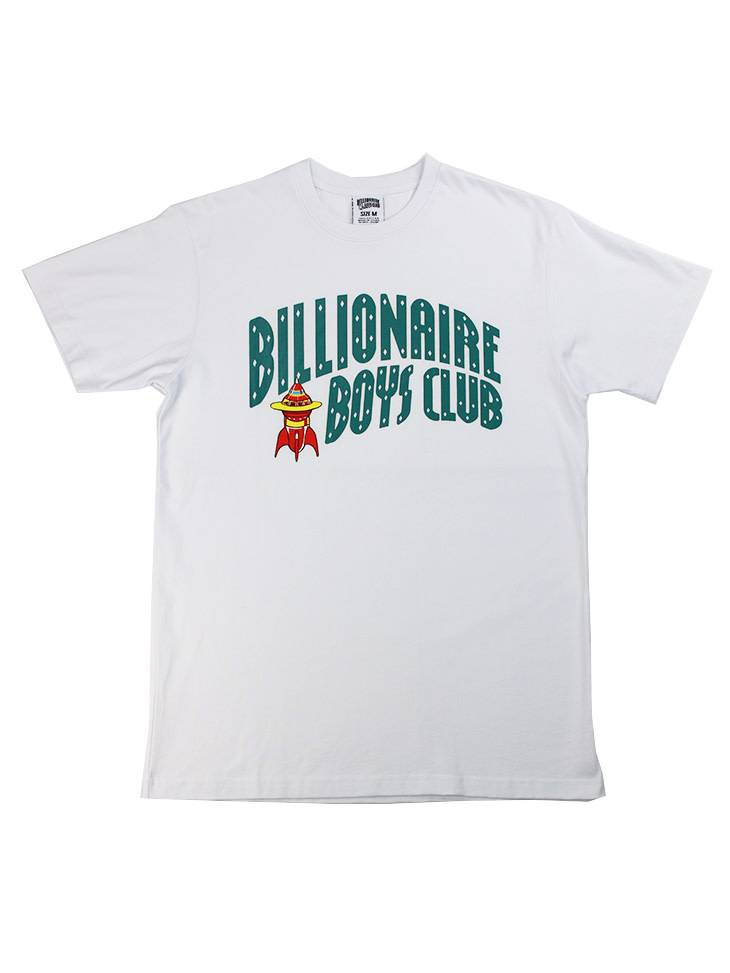BILLIONAIRE BOYS CLUB BB ARCH ROCKET SS TEE WHT