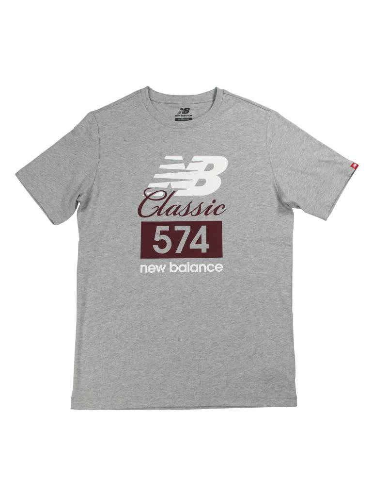 NEW BALANCE 574 CLASSIC TEE GRY