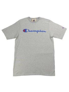 CHAMPION HRTG TEE CLASSIC LOGO GRY/BLU