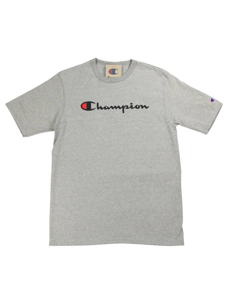 CHAMPION HRTG TEE CLASSIC LOGO GRY/BLK