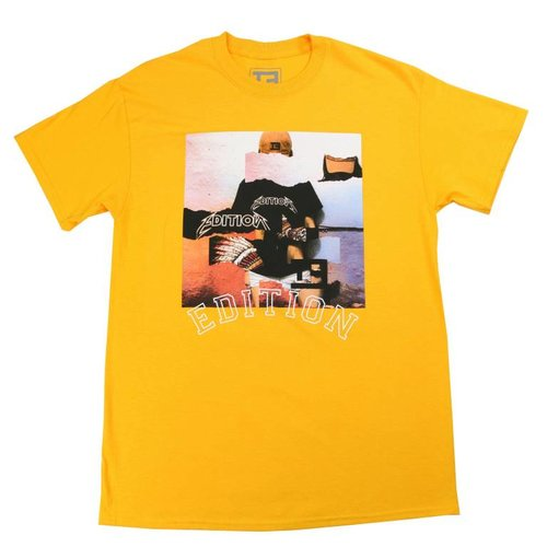 THE EDITION DISTORTED TEE YELLOW