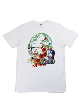 BILLIONAIRE BOYS CLUB BB SURREAL STICKBALL SS OPEN TEE WHT
