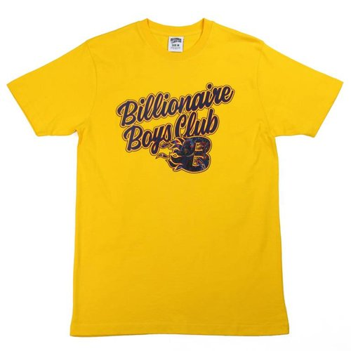 BILLIONAIRE BOYS CLUB BB FLAMES SS TEE YEL