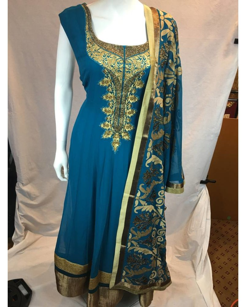 Party Wear Anarkali w/ Threadwork on Georgette
