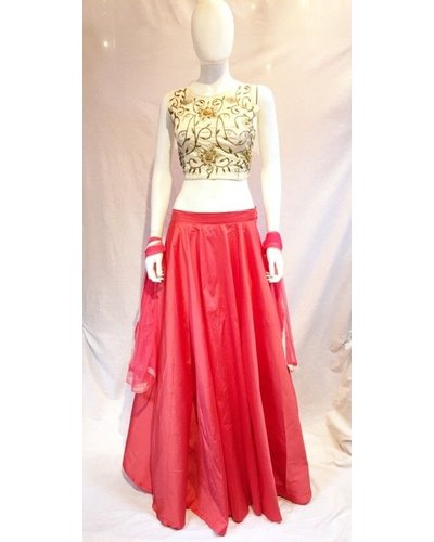 Lehenga w/ Zardozi Emb on Silk