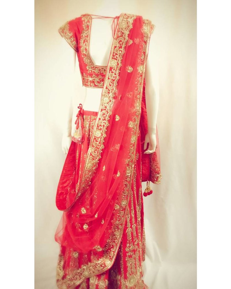 Bridal Red Lehenga on Pure Silk